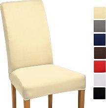 funda elástica para sillas - modelo Mia Crema,