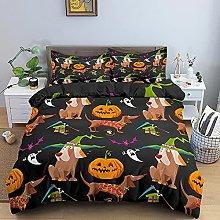 Funda Nordica Cama 150 Halloween Negro Ropa de