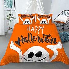 Funda Nordica Cama 150cm Halloween Naranja Juego