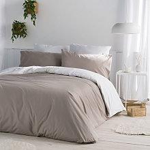 Funda nórdica CASUAL gris/blanco 240x220 cm -