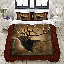 Funda nórdica, Elk Lodge Cow, Juego de Ropa de