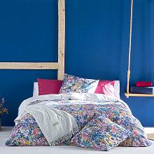 Funda nórdica FLORETTE azul/fucsia/rosa 260x240
