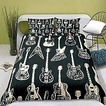 Funda Nordica Infantiles 135x200 Guitarra Negra,