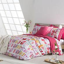 Funda nórdica LILLE rosa/violeta/amarillo/verde
