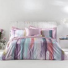 Funda nórdica LOANE rosa/violeta/verde 260x240 Cm
