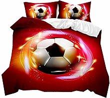 Funda Nórdica para Niño Adolescente Fútbol 3D