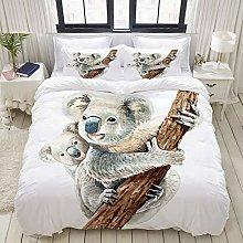 Funda nórdica, Retrato de Koala y bebé Koala,