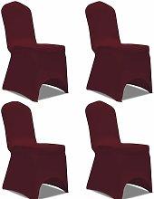 Funda para silla el¨¢stica 4 unidades burdeos