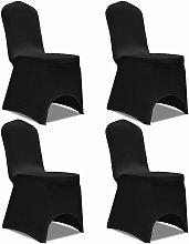 Funda para silla el¨¢stica 4 unidades negra