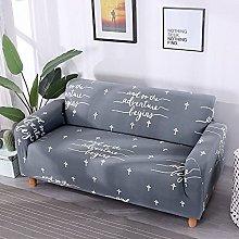 Funda Sofa 4 Plazas Chaise Longue Letras Grises