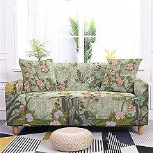 Funda Sofa 4 Plazas Chaise Longue Piedra Flor Rosa