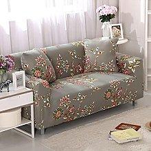 Funda Sofas 2 y 3 Plazas Flores Marrones Vintage