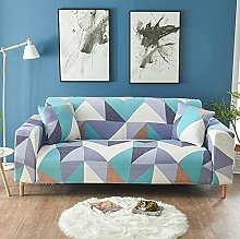 Funda Sofas 2 y 3 Plazas Geometría Azul Violeta