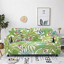 Funda Sofas 2 y 3 Plazas Hojas Verde Esmeralda