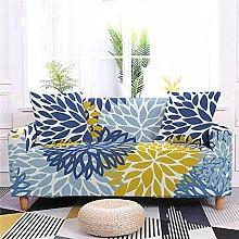 Funda Sofas 2 y 3 Plazas Planta Amarilla Azul