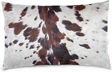 Fundas de almohada Piel de vaca blanca de cuerno