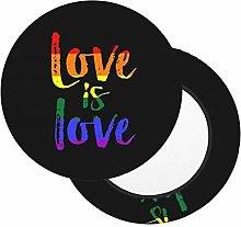Fundas de Asiento de Taburete Redondo Love is Love