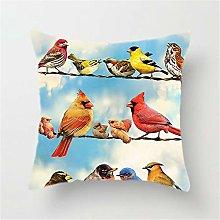 Fundas de Cojín Decorativos Varias aves Cuadradas