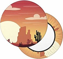 Fundas para taburetes Redondo Paisaje del Desierto