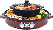 Futchoy Hot Pot BBQ 2 en 1 multifunción portátil