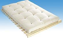 Futón SHIVA de DREAMEA - 100% Algodón - Blanco