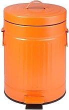 FZMT Cubo de Basura Grande Retro con Tapa, Cubo de