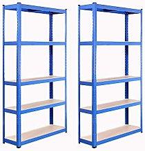 G-Rack 0021 Sistema de estanterías, Azul, 2 Bay,