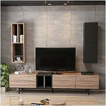 Gabinete de TV Diany Modular moderno, Estanteria -