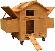 Gallinero móvil incl. 2 cajas de nidos y rampa