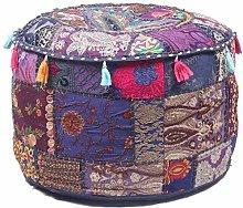 GANESHAM Puf otomano indio hippie vintage de