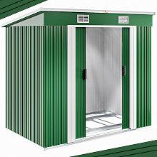 Gardebruk - Deuba Cobertizo de metal Verde 2m²