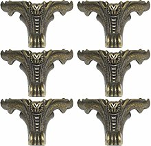 GARNECK 6Pcs Caja de Latón Antiguo Patas Pies