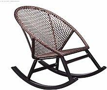 GAXQFEI Silla mecedora casual de ratán, silla de