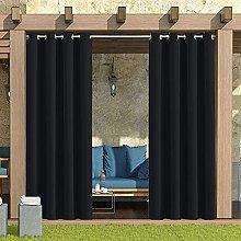 GEBIN 2 Pieza Cortinas Opacas Dormitorio -