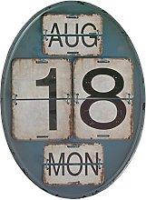 GEESE Calendario, Metal, Multicolor, 3x27x37 cm