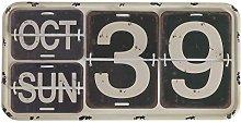 GEESE Calendario, Metal, Multicolor, 3x40x20 cm