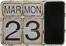 GEESE Calendario, Metal, Multicolor, 3x40x28 cm
