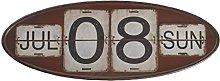 GEESE Calendario, Metal, Multicolor, 3x52x20 cm