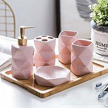 Gelory Juego de accesorios de baño de cerámica