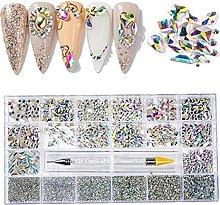 Gemas de uñas para arte de uñas, 21