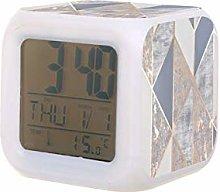 Geo Reloj despertador digital LED oro rosa con