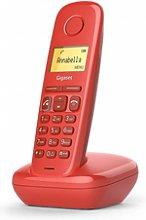 Gigaset A270 Teléfono Dect Rojo Identificador De