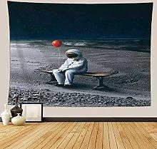 Girasol Astronauta Tapiz de Tela Tapiz de Pared