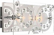 Globo - Aplique de cristal de cristal foco de luz