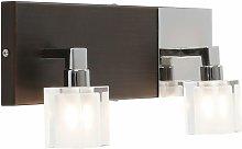 Globo - Diseño de luz de pared de madera,