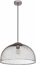 Globo - Lámpara colgante jaula foco cromo
