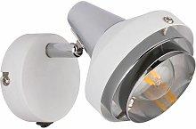 Globo - Lámpara de pared foco de cromo foco