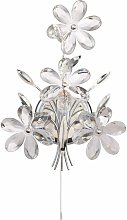 Globo - Luz de la pared flores de cristal flores