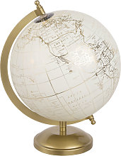 Globo terráqueo decorativo con mapamundi