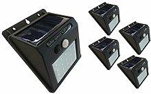 Gnetic Glass Luz Foco Solar Exterior con Sensor de